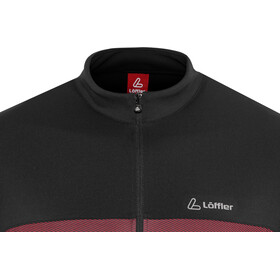Löffler Flow Bike Jersey Half-Zip Men red
